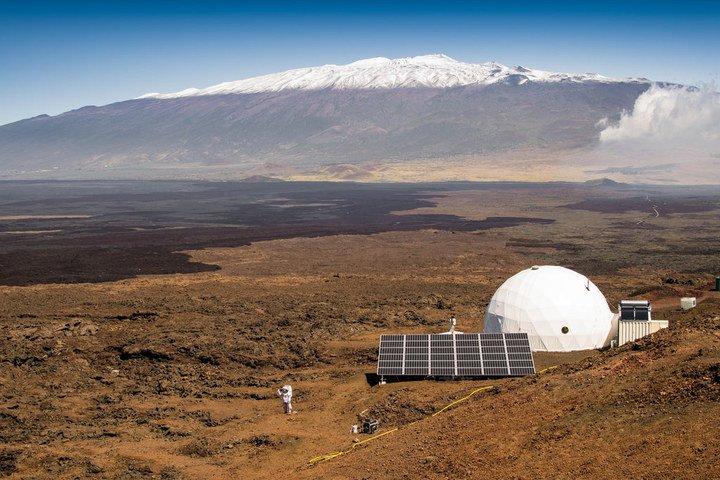 NASA's 36-foot Bio-Dome on the dormant volcano of Mauna Loa in Hawaii.