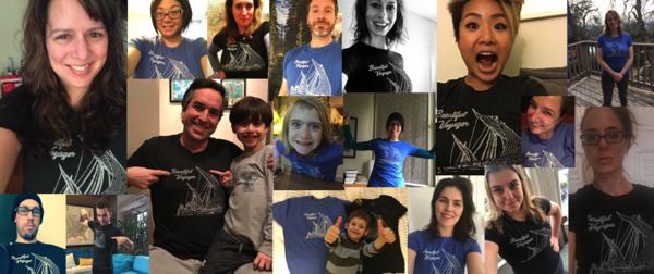 Final tally: 68 shirts sold!