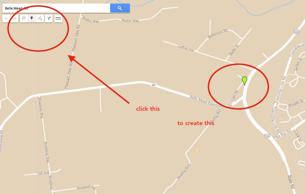 google my maps editing