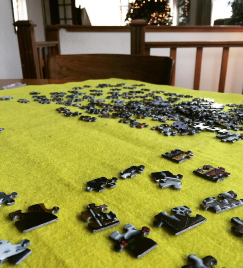 My annual jigsaw puzzle. I'm only allowed to do one in December cause addict.