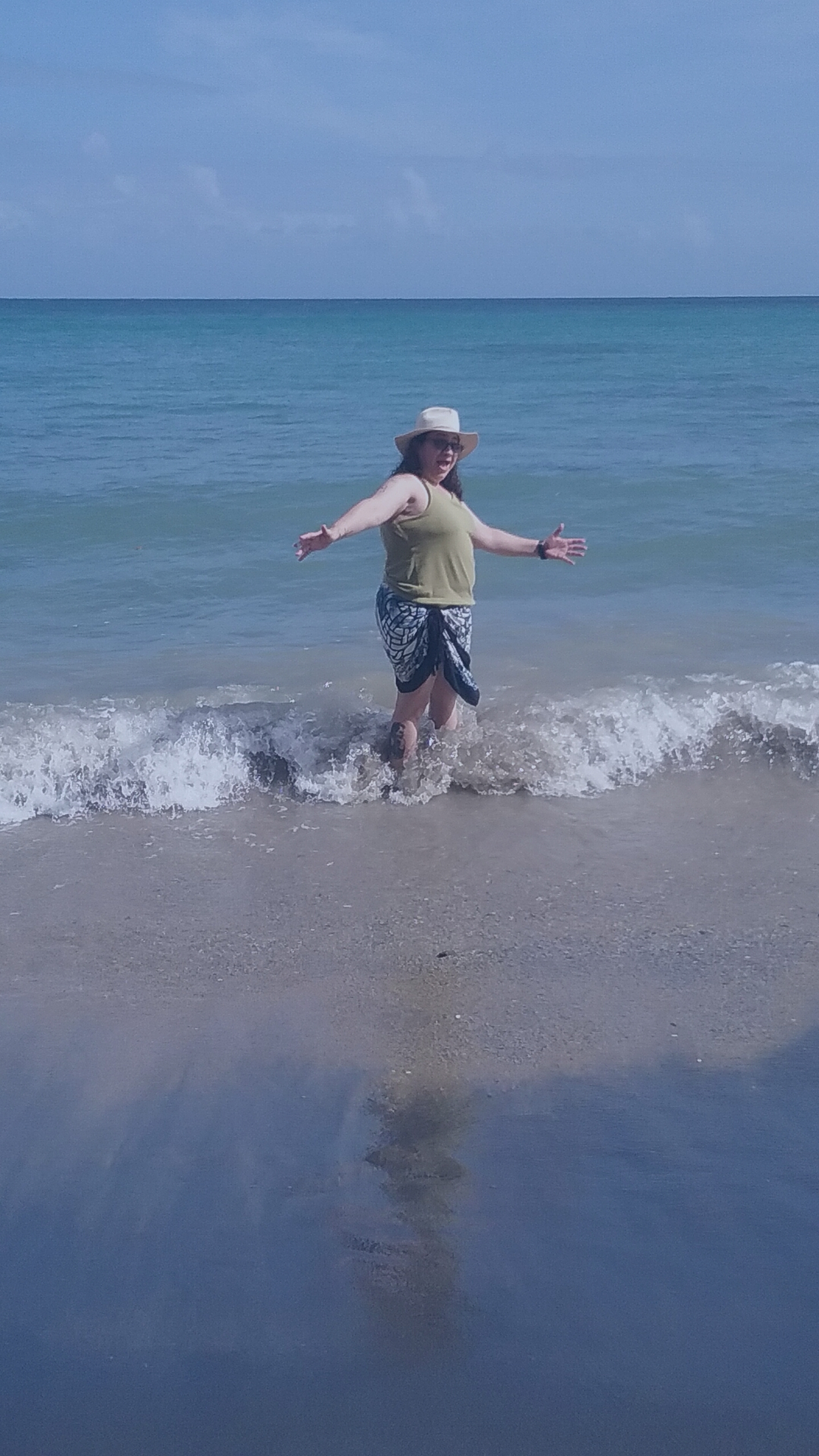 Here I am in Puerto Rico. I'm not a person to be slowed down.