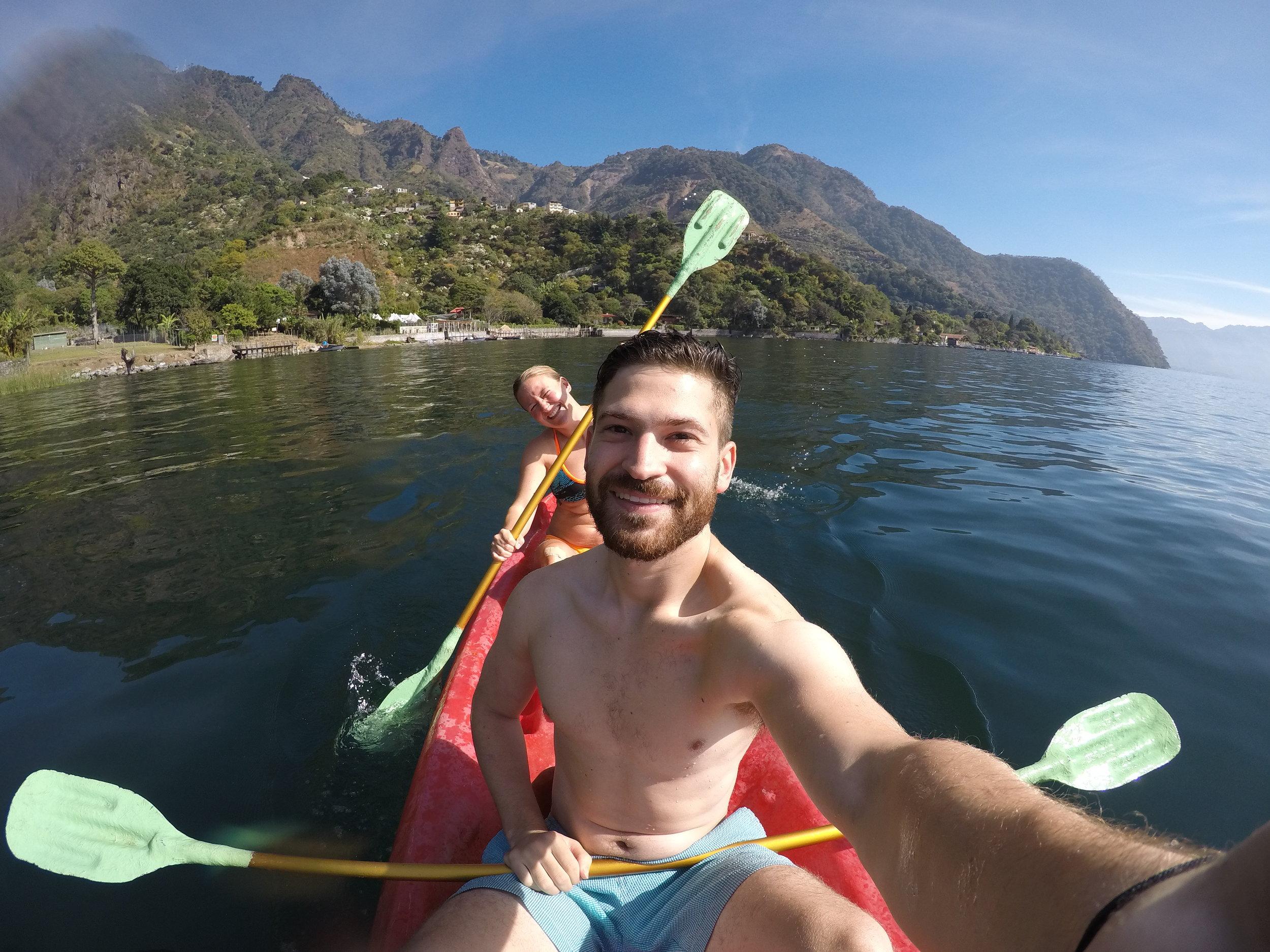 Gilad at Lake Atitlan, Guatemala