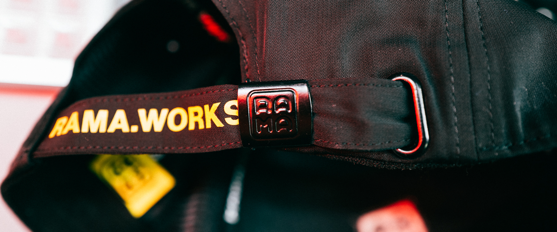 Rama Works Logo Mark branded buckle