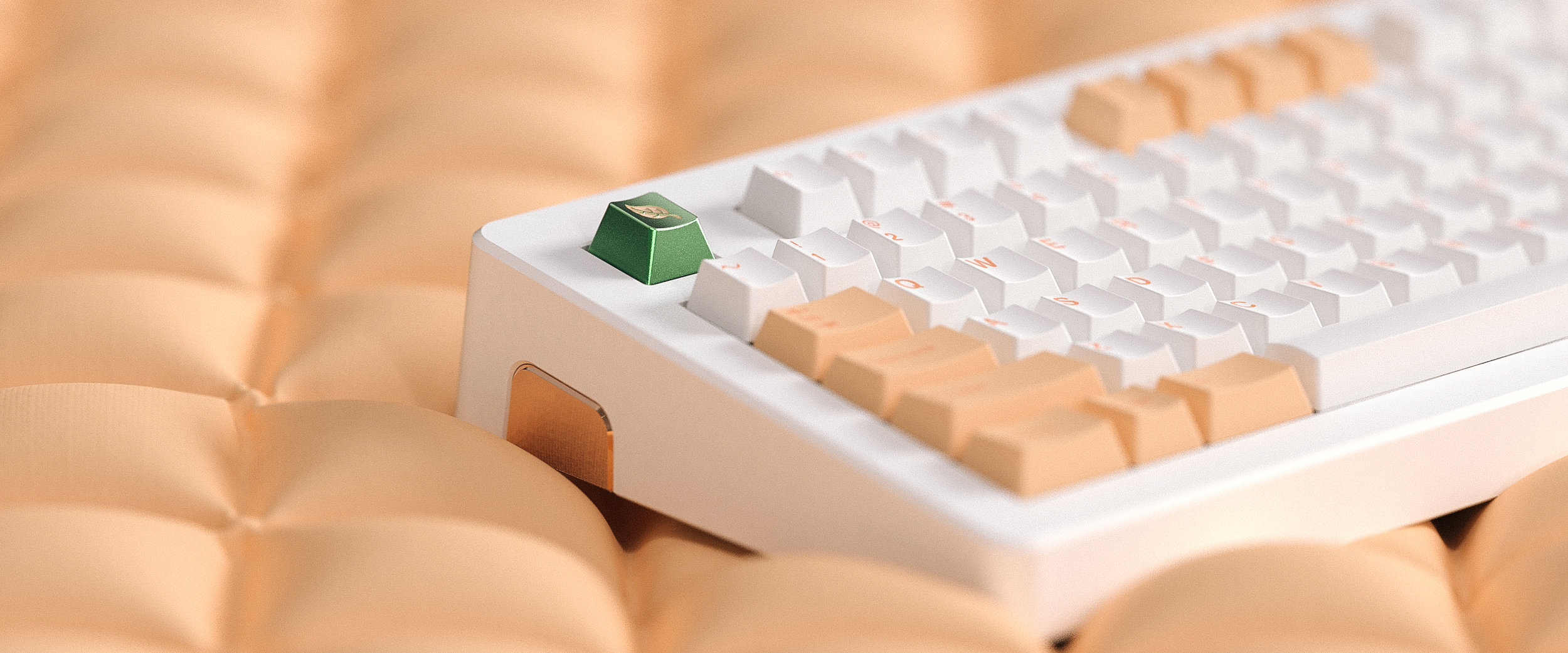 GMK Peaches n Cream   Anodised Aluminium with enamel infill