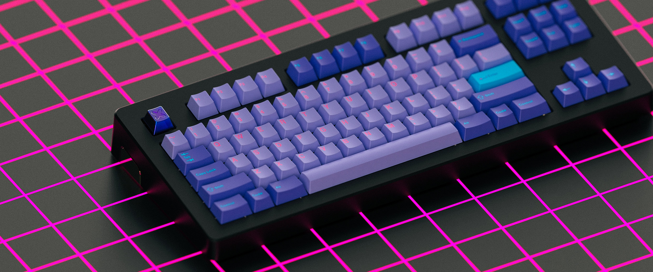 GMK Vaporwave Collaboration Cap   Multicolour PVD Stainless Steel