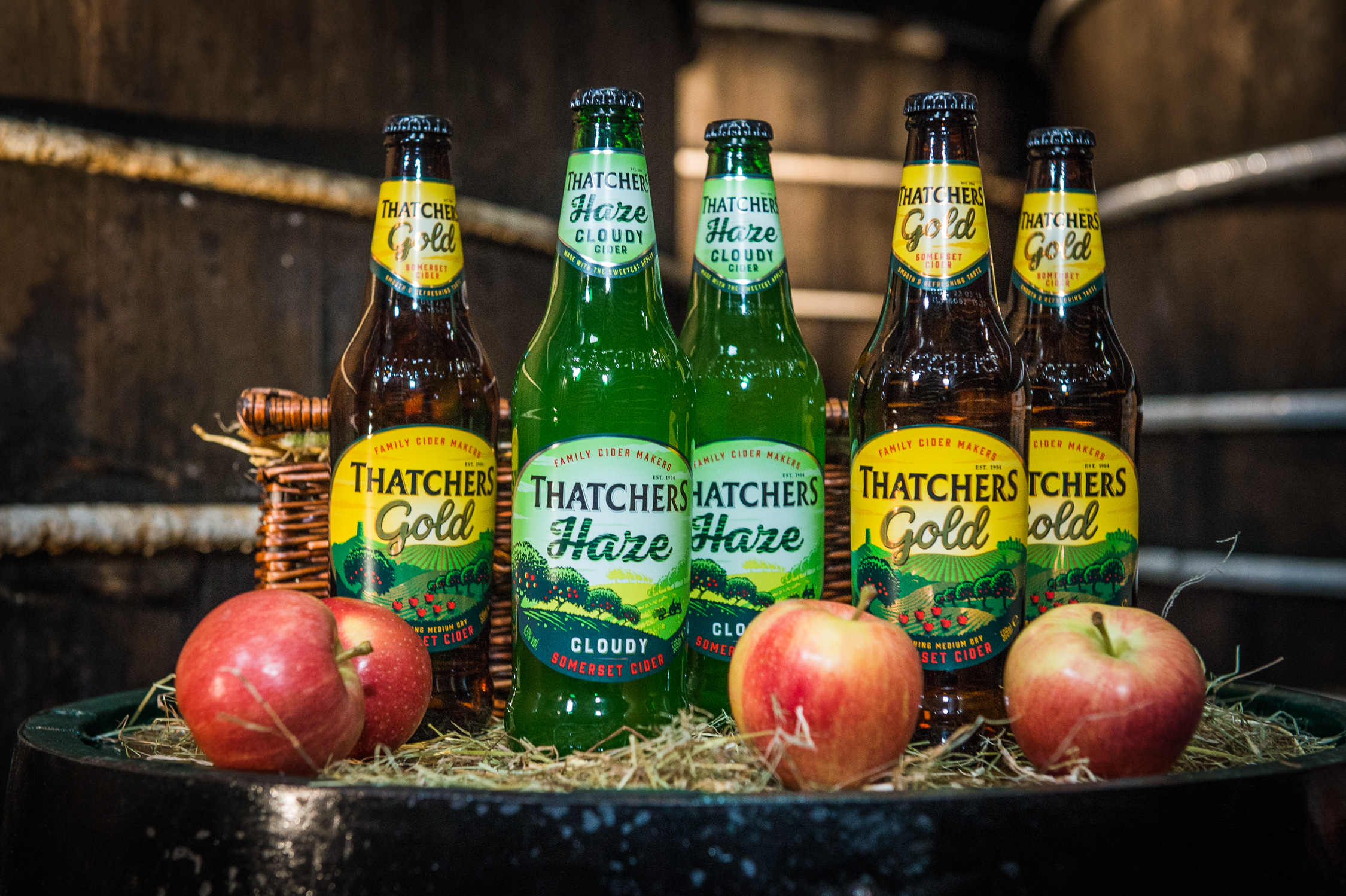 Fresh product shots for Thatchers Cider