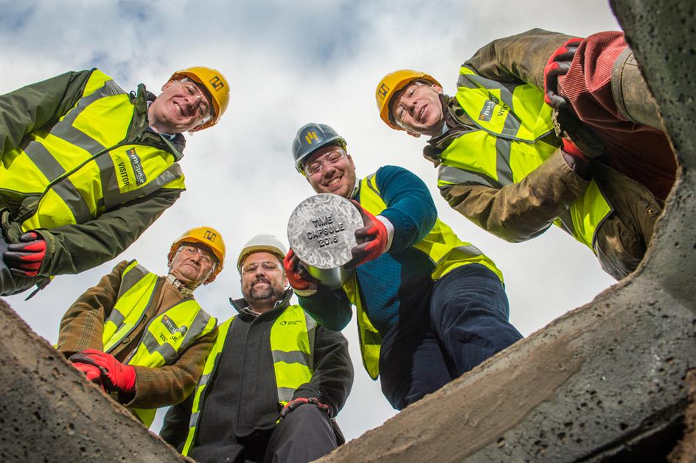 Midas Construction Time Capsule, PR Photographer in Bristol