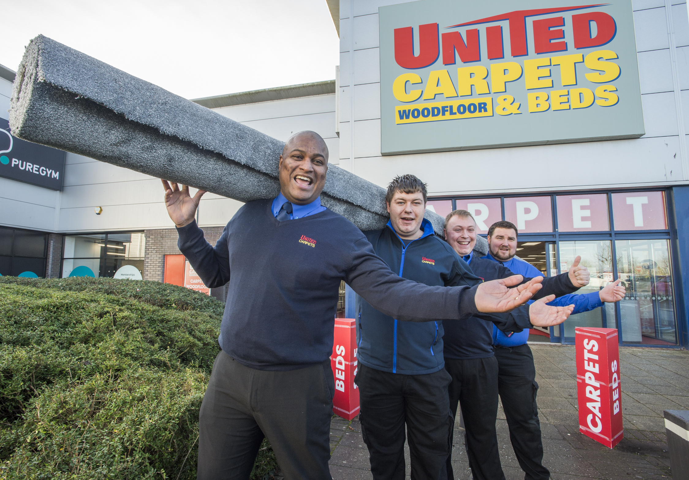 PR Photography in Bristol for United Carpets