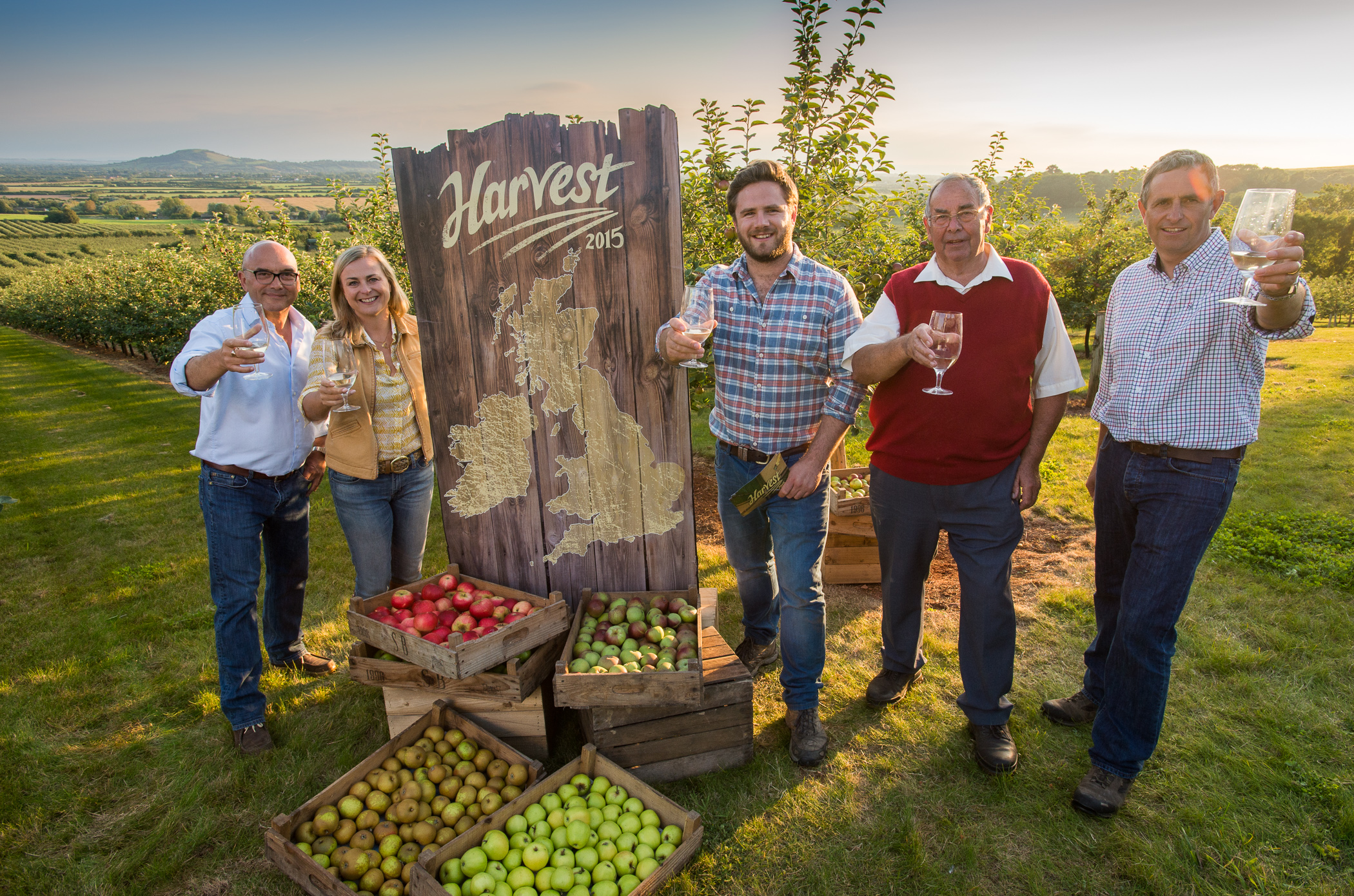 BBC harvest programme visits Thatchers Cider, Photography in Bristol