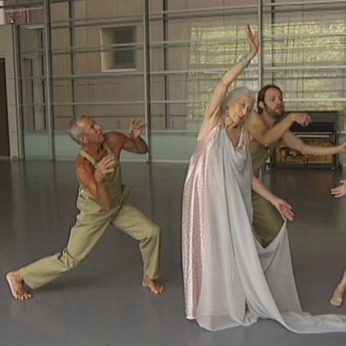 Eileen Kramer in the studio .... yes, she still performs and she is loved for it!  Image:abc.net.au