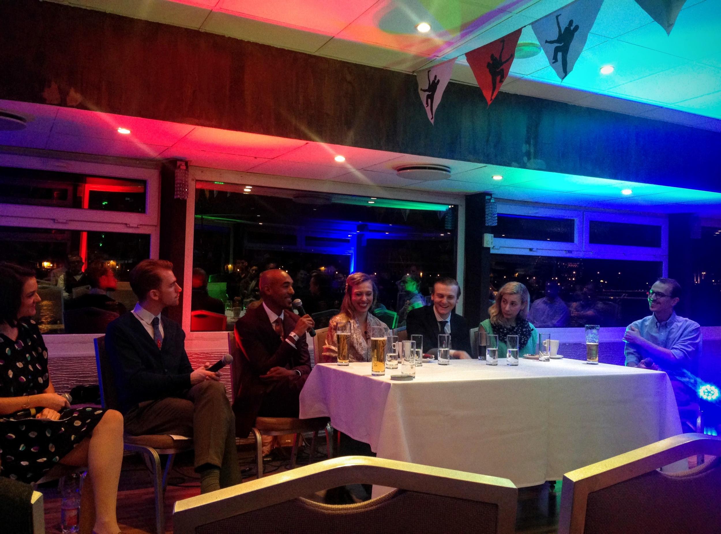 SECOND NIGHT, from  L  to  R : Nina Jukic, Marcus Nutzinger,Remy Kouakou Kouame, Laura Keat, Alex Parker, Natalia Eristavi and Alexei Korolyov
