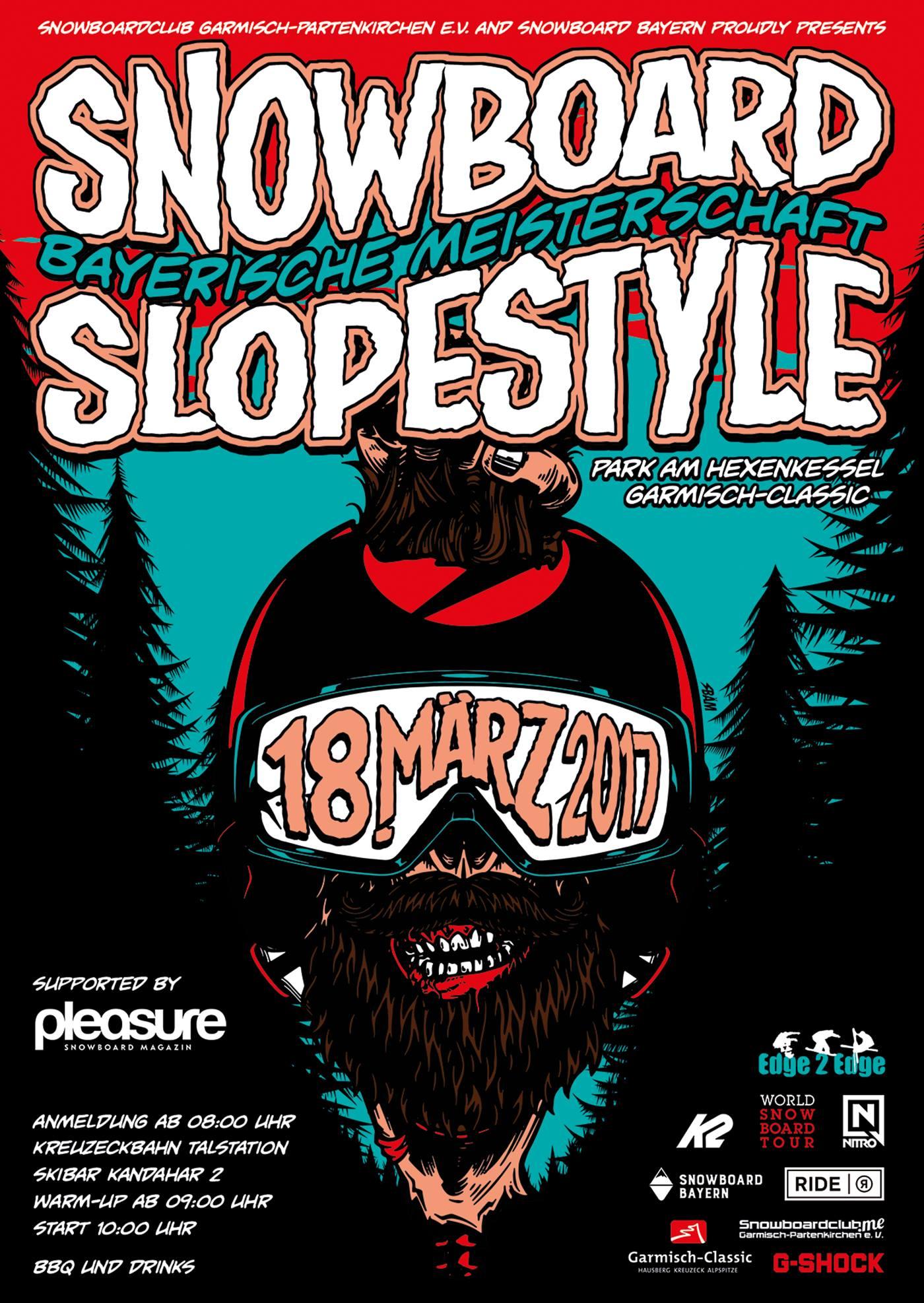 Bayerische Meisterschaft Snowboard Slopestyle 2017