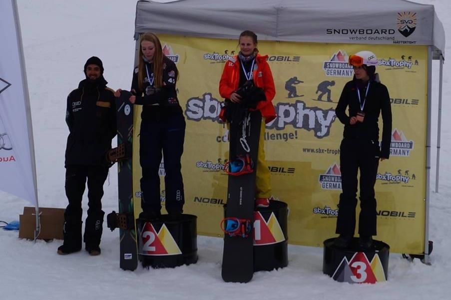 Bayerische Meisterinnen im Snowboardcross U15