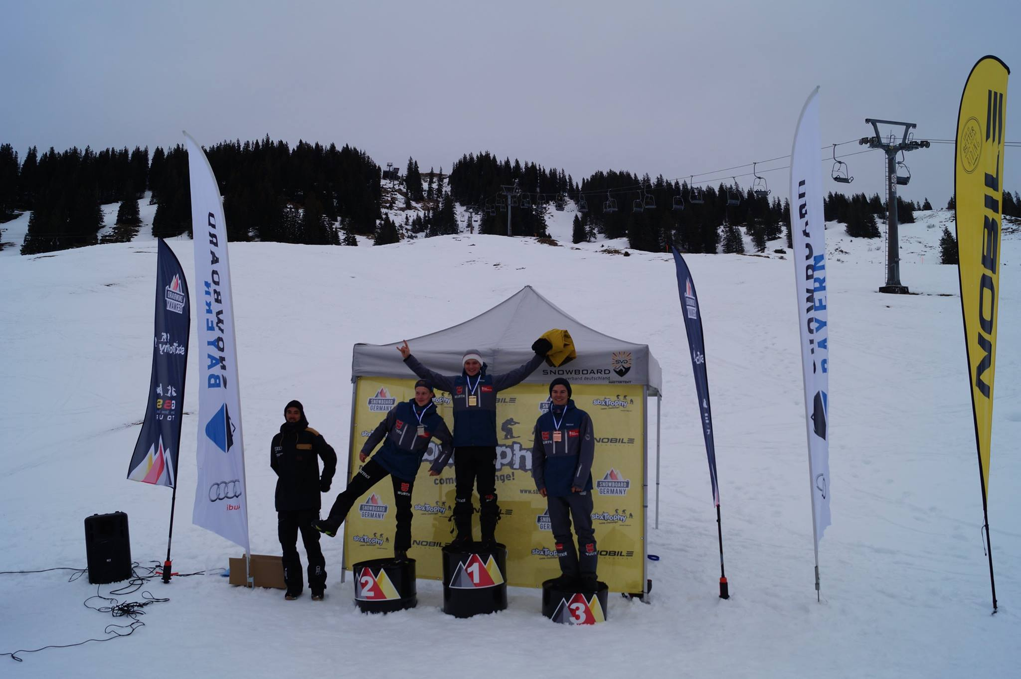 Bayerische Meister im Snowboardcross 2017