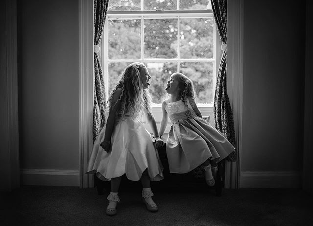 Caught these two little cuties during prep! #weddingsbydominiquebader #beautifulstorytelling #timeless