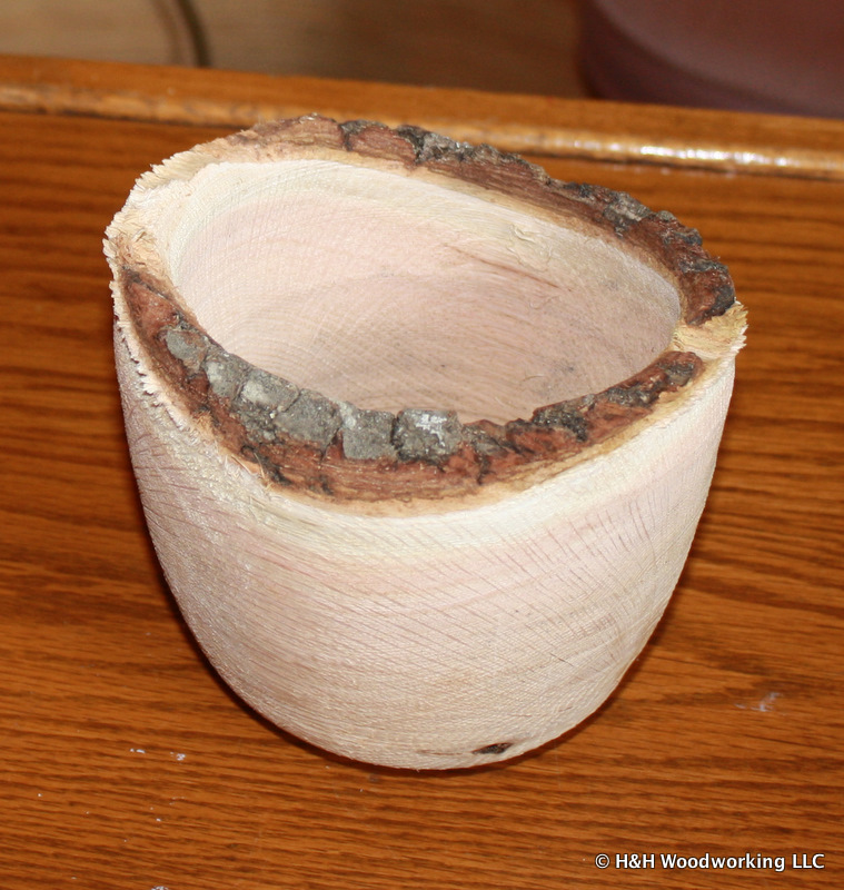 Live edge turned bowl
