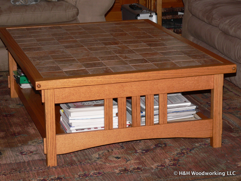Mission style custom coffee table