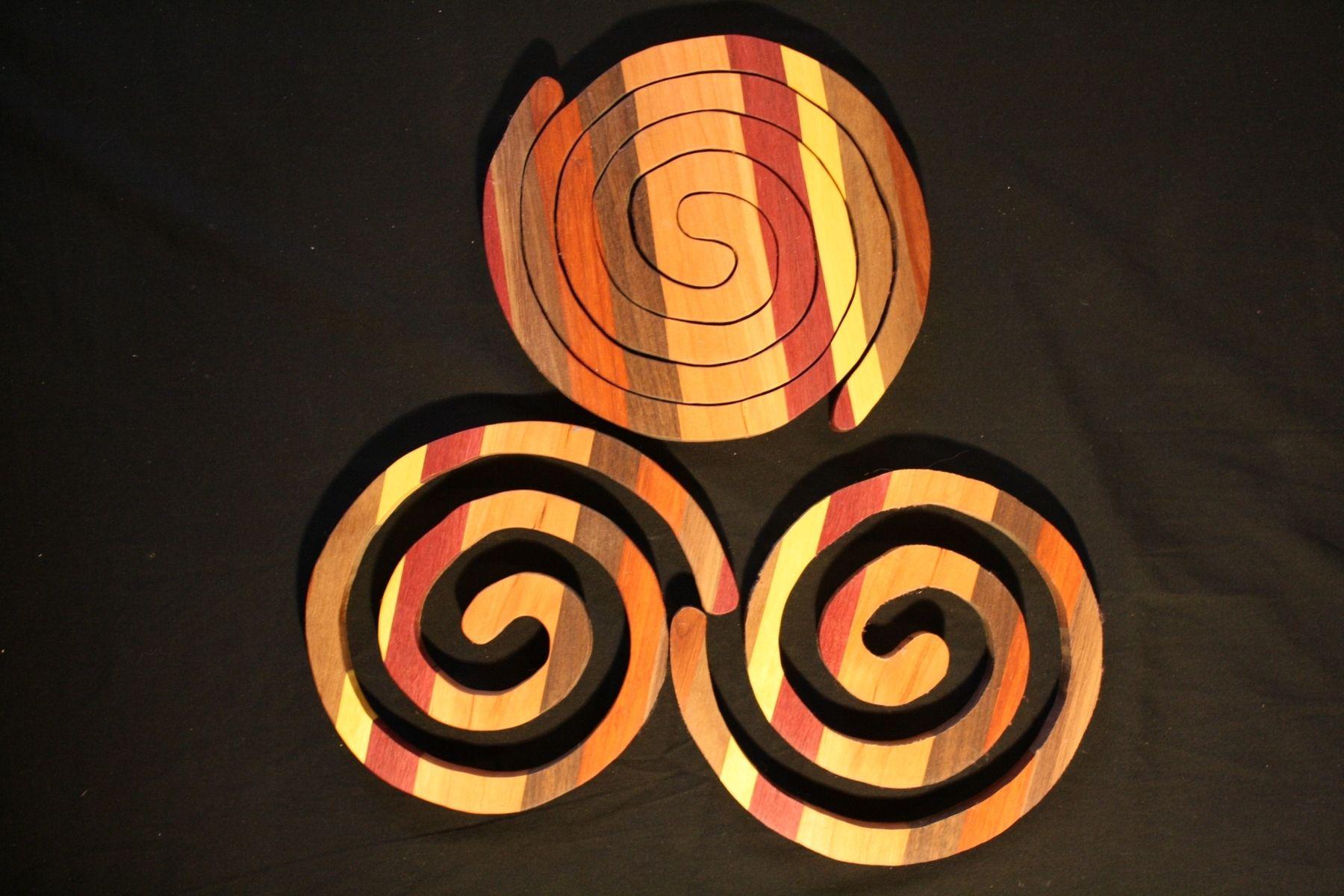 Wooden nesting hot mats