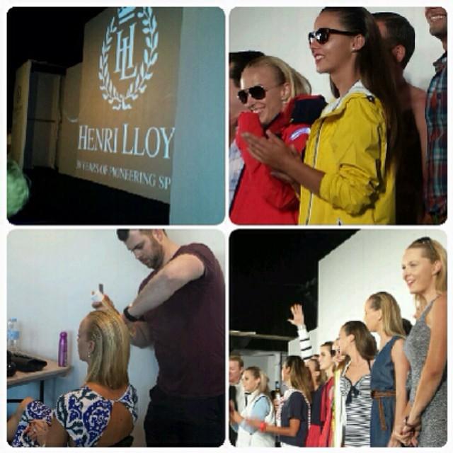 Our very own @henryburke1 on location in Hamilton Island creating gorgeous hair for the #HenryLloyd fashion show! #nauticalchic #sailorchic #workinghardorhardlyworking #islandfever #beachhair 👙👙👙 (at Hamilton Island)