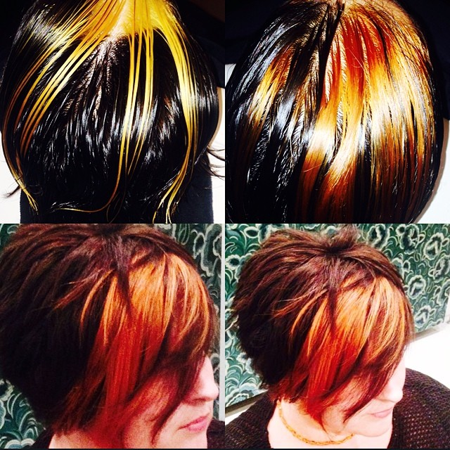 Peekaboo technique done in training by the master @dantastic1983 trained by @oneejeffrey #creativecolour #colourpaneling 💥💥💥💥💥👌