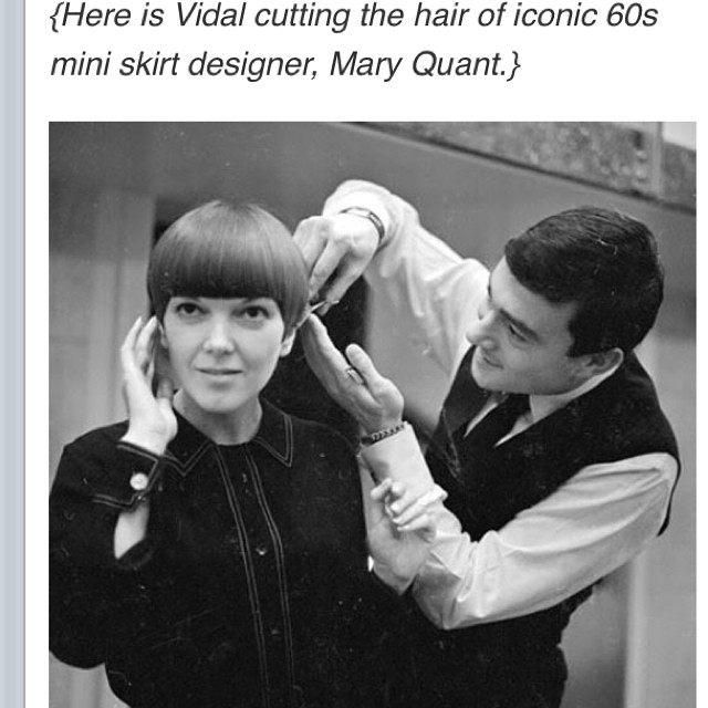 #VidalSassoon #hairmaestro cutting the beautiful #MaryQuant #60's #haircutting #styling  #timeless #chic #precisioncutting we love him here @laboutiquehair