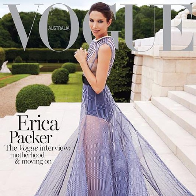 @laboutiquehair #friend and #family Erica Packer looking #beautiful on @vogueaustralia #november #cover #fashion #dior #couture #hair #colour by Belinda @oneejeffrey