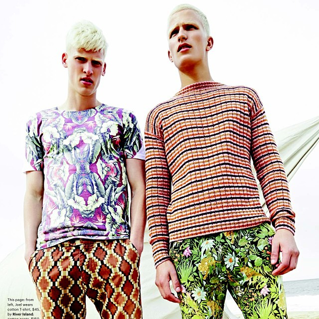 Joel Meacock @chic_management and Nathaniel Visser @priscillasmodels #hair #bleach to #perfection #scandinavianchic by #colour #expert @hairjon1 #photography @zacharyhandley @theartistgroup #GQ #Australia #november @gqaustralia #boysofsummer #pattern #clash (at La Boutique)