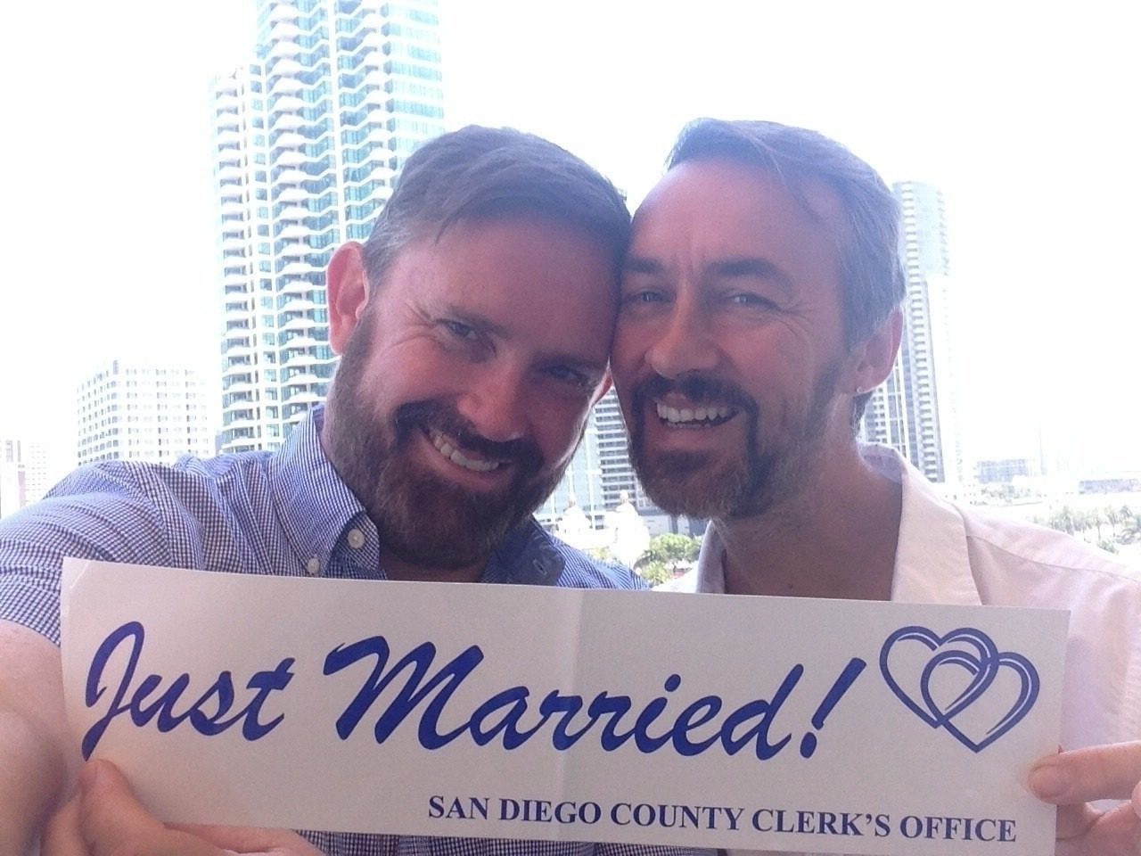 Congratulations to the happy couple, Kenneth and Wallace! After 12 years together they've finally consummated their love for each other in San Diego!     We hope they enjoy their Palm Springs honeymoon, and wish them the best for many more years to come xx