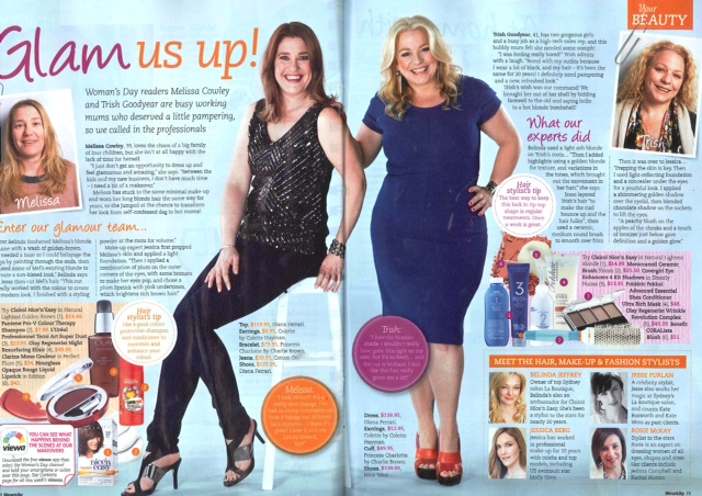 Check out Belinda and Jesse's amazing makeovers in the latest Woman's Day! They had so much fun working with the Woman's Day team and hosting it in our salon, and once again did beautiful work.