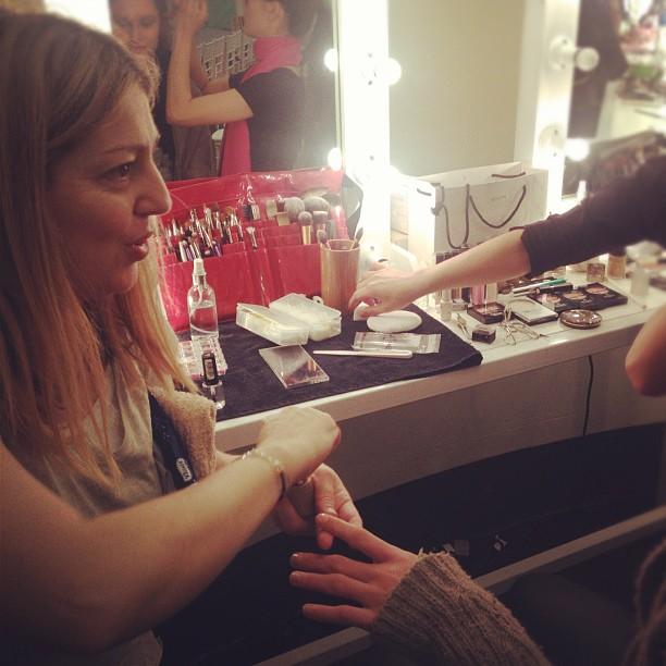 Ms Frances backstage at #30daysoffashion (Taken with  Instagram )