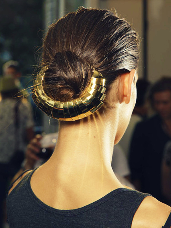 fuckyeahrunwayhair :     Yves Saint Laurent SS12