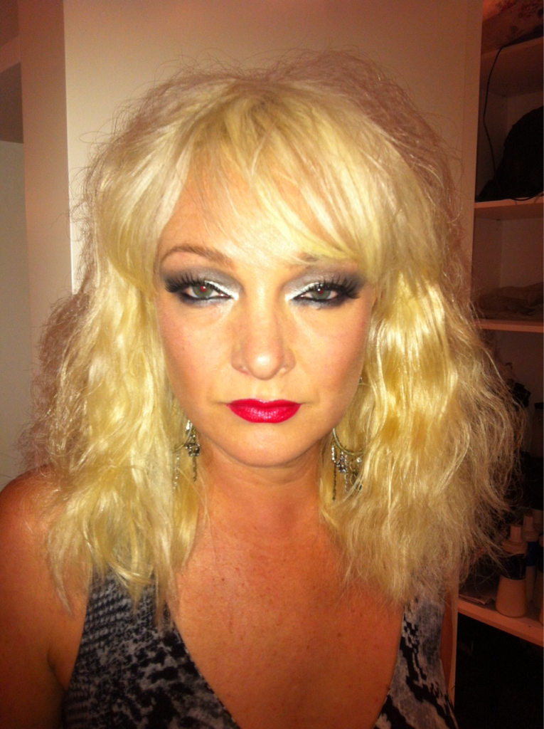 Bel rocking it up as Blondie for a friend's 40th!