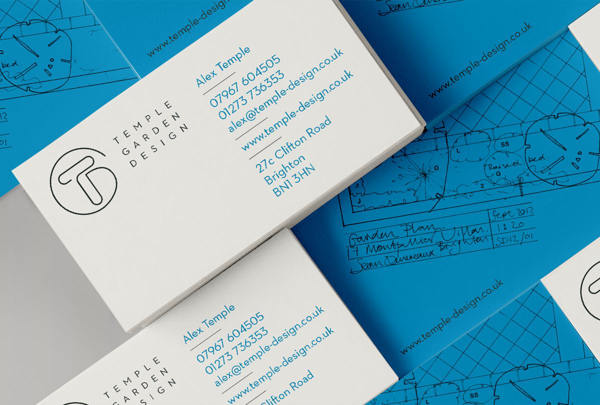 Temple Garden business card designs by Tacon Design