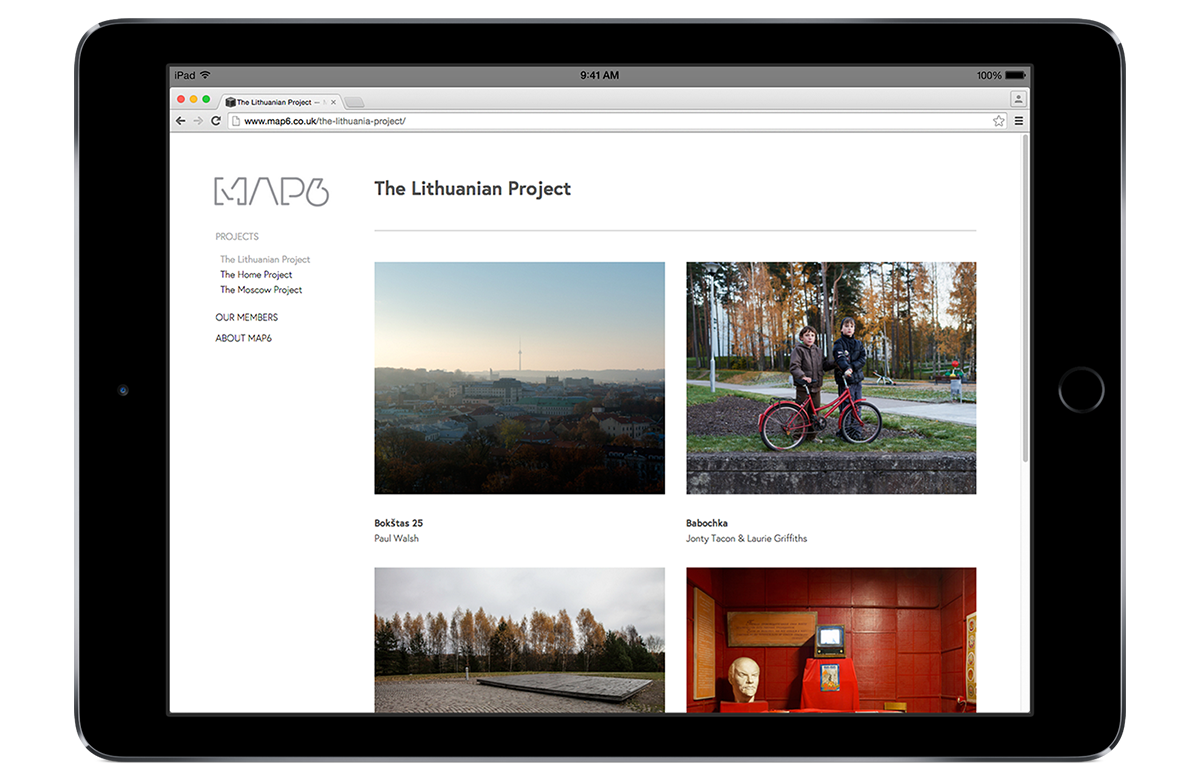 Photography collective website design