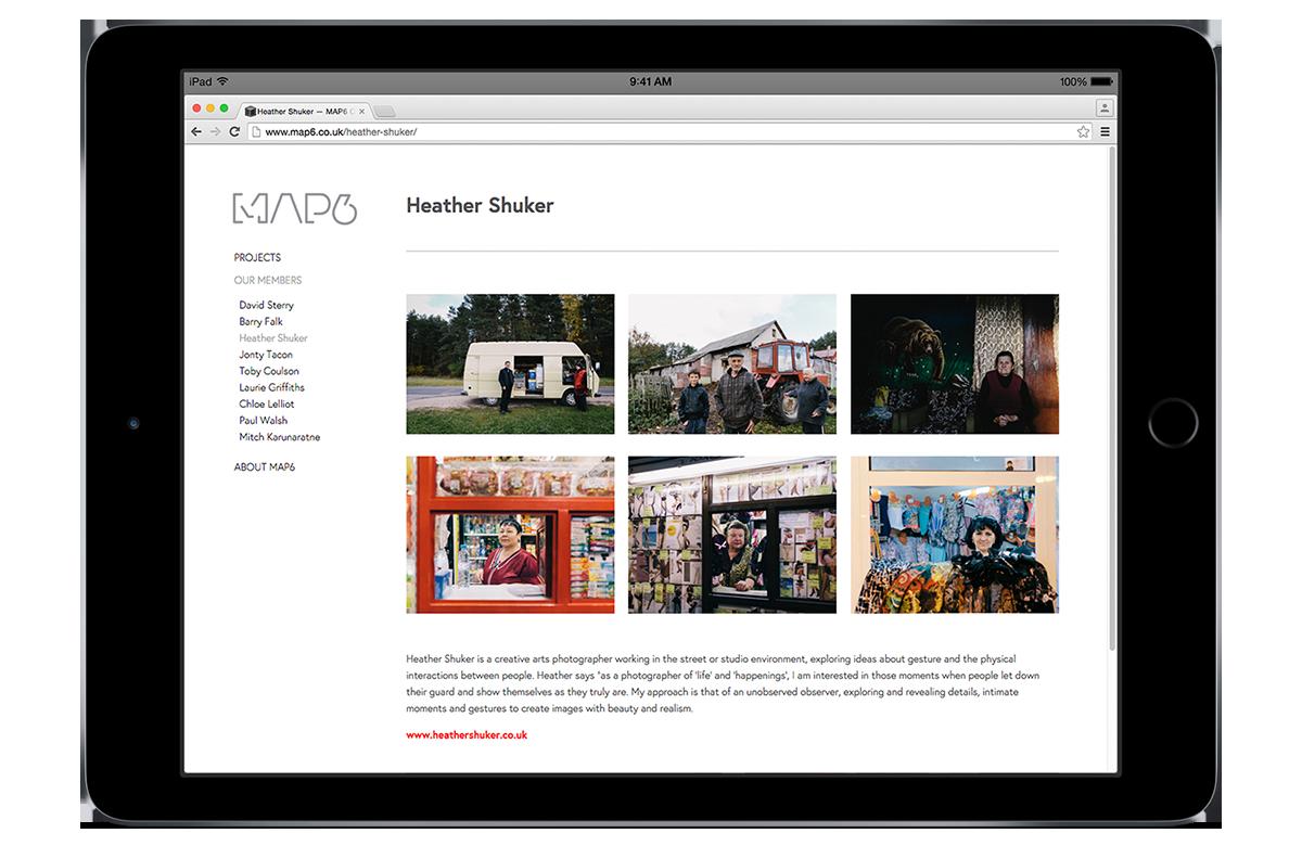 MAP 6 photographers' website design