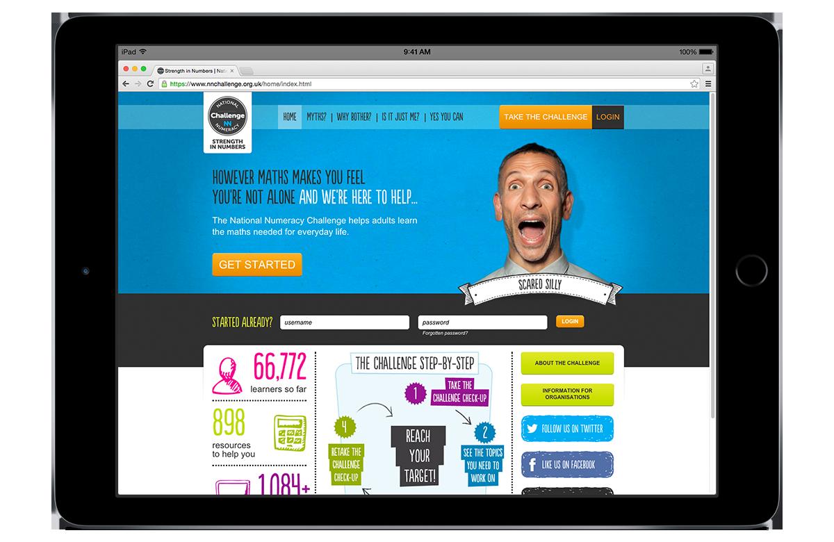 National Numeracy Challenge website design