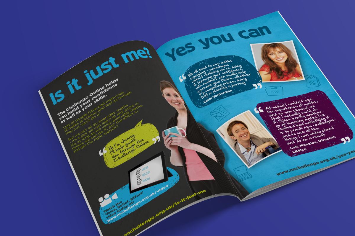 National Numeracy Challenge brochure spread