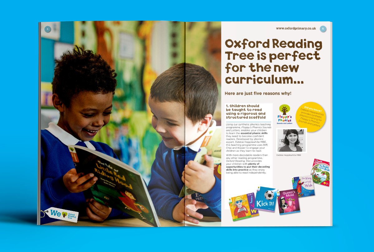 Oxford Reading tree brochure design