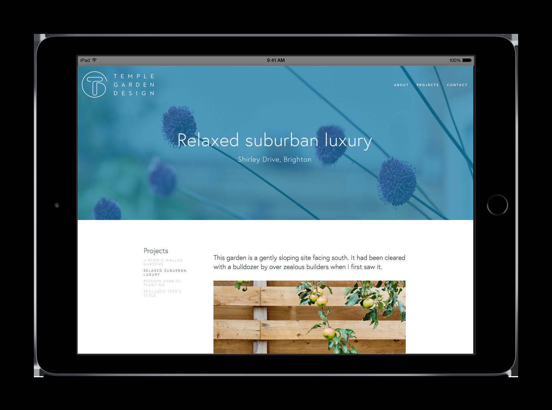 Website design for garden designers by Tacon Design