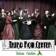 Dicken's Caroliers, Third Row Center