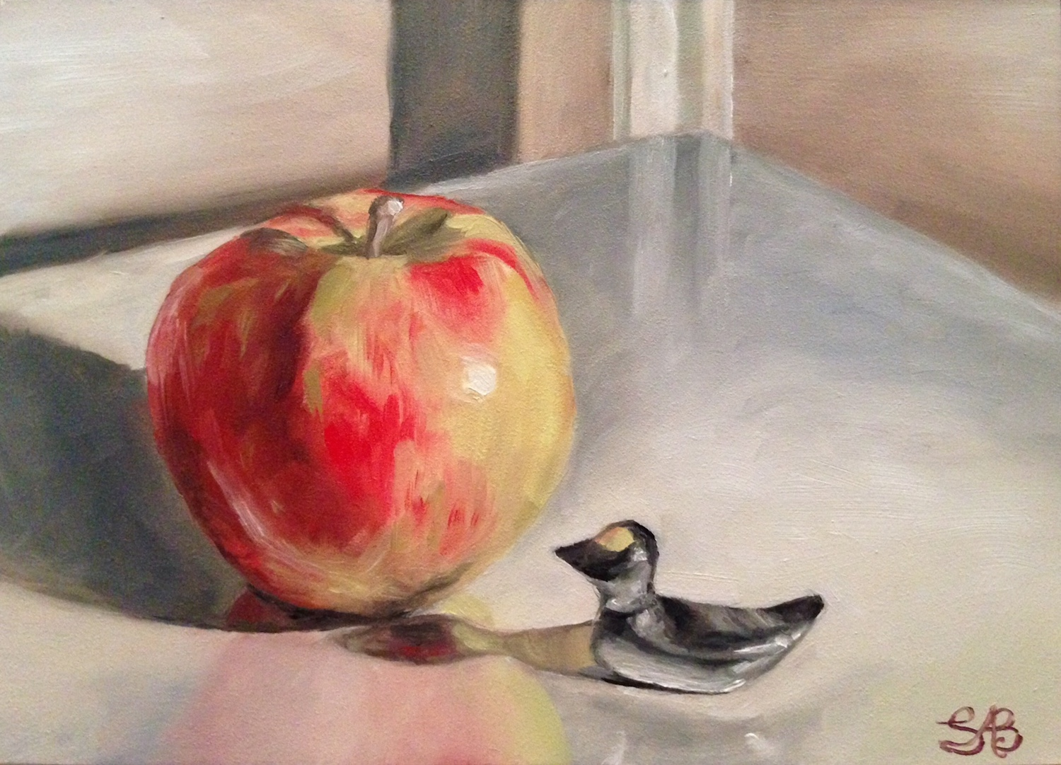 The big apple and the little duck