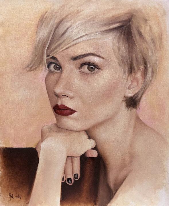 "Indie Darling, 15 x 18"", oil on canvas"