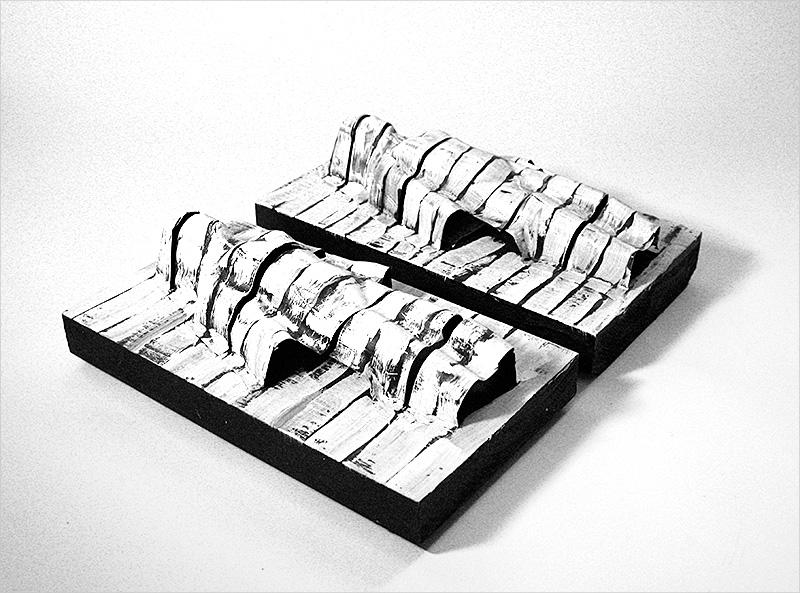 "Untitled, acrylic / plastic / wood, 9'X8"", 2006"
