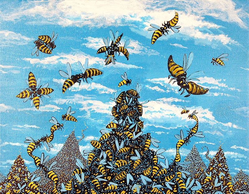 """PlanB, acrylic on canvas, 11X14"""", 2006"""