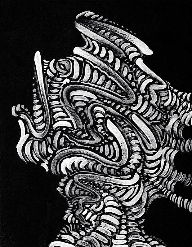 Stuck, acrylic on canvas board, 14X11, 2006