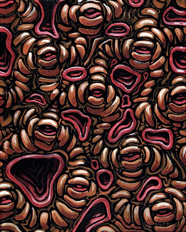 "Sockets and Gums, acrylic on canvas, 10X8"", 2006"
