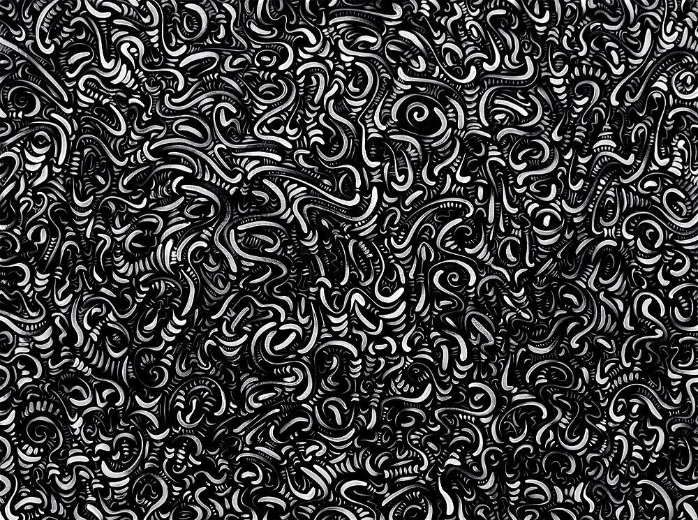 "Untitled, acrylic on canvas, 36X48"", 2007"
