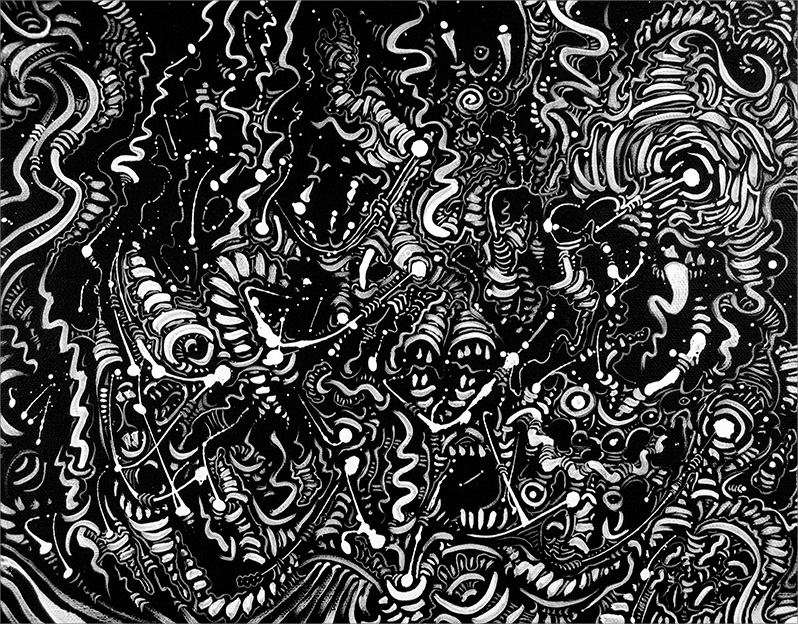 "Untitled, acrylic on canvas, 11X14"", 2007"