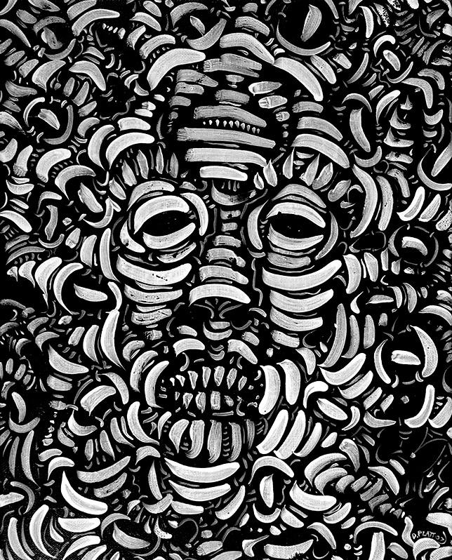 """Pharaoh, acrylic on canvas, 14X11"""", 2007"""