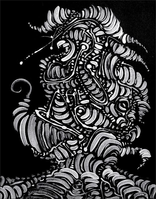 """Untitled, acrylic on board, 14X11"""", 2008"""